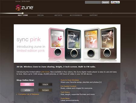 Zune website