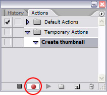 Actions tutorial step 2