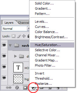Adjustment layers tutorial step 2