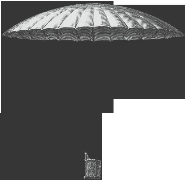 Frameless parachute